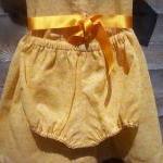 Baby girls orange cotton floral dre..