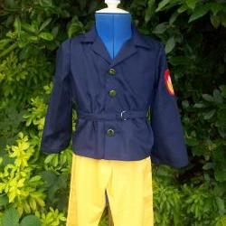 Unisex child's fireman fancy dress costume/outfit